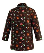 DÁMSKY kuchársky kabát s tortovým vzorom