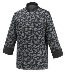 Kuchársky kabát so vzorom lebky