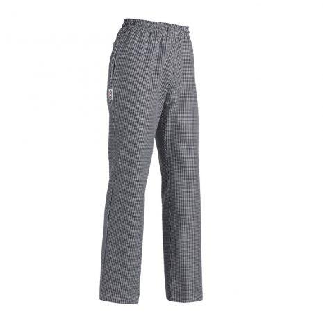 Kuchárske/Cukrárske nohavice so šachovnicovým vzorom s pružným pásom