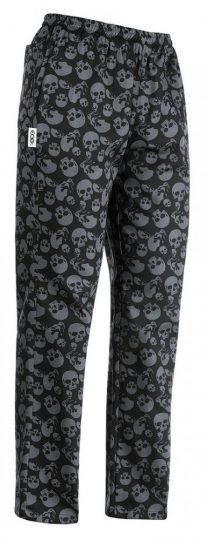 Kuchárske nohavice so vzorom lebky 100% bavlnený