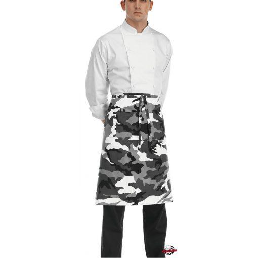 Maskáčový kuchárska zástera