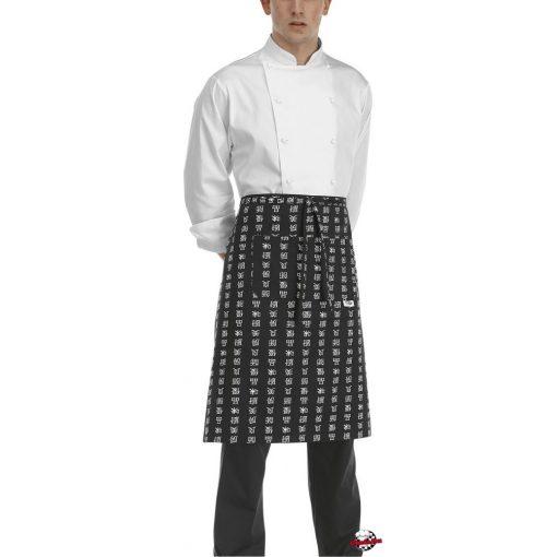 Kuchárska zástera s čínskym vzorom