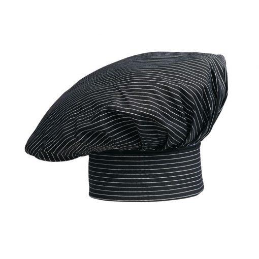 Kuchárska čiapka pásikovaná