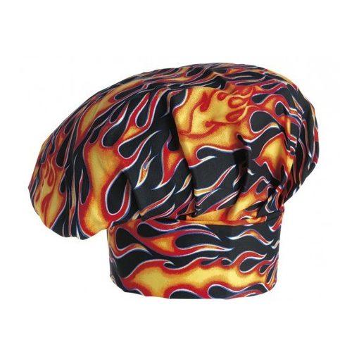 Kuchárska čiapka so vzorom plameňa