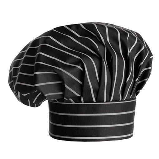 Kuchárska čiapka s hrubými pásikmi