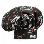 Kuchárska čiapka s japonským vzorom