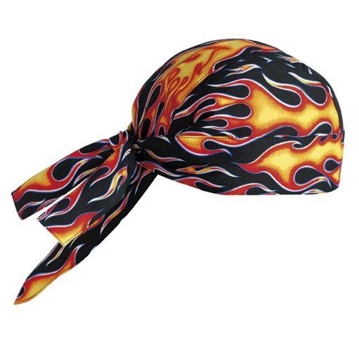 Šatka na hlavu so vzorom plameňa