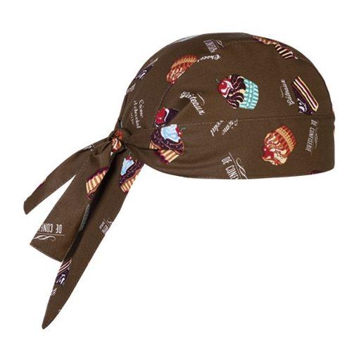 Šatka na hlavu  s tortovým vzorom
