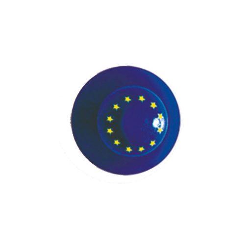 Gombík na kuchársky kabát - s vlajkou EÚ 12ks