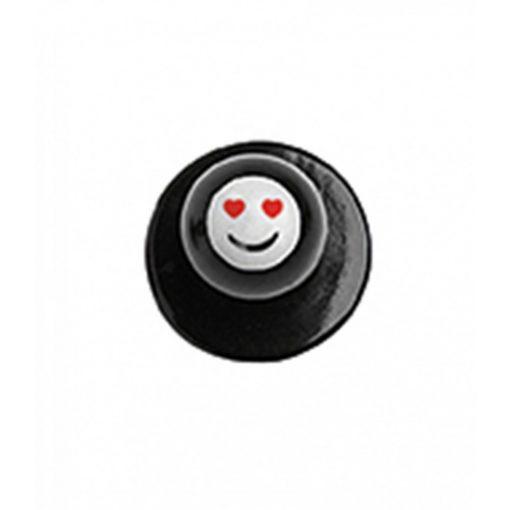Gombík na kuchársky kabát - smajlík so srdiečkovými očami