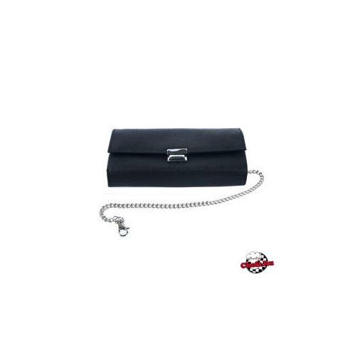 Čašnícke púzdro na peňaženku, čierne, s 5 vreckami, koženka