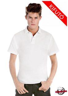 Biele bavlnené tričko s golierom 180 g