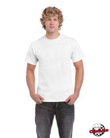 Biele tričko s okrúhlym výstrihom