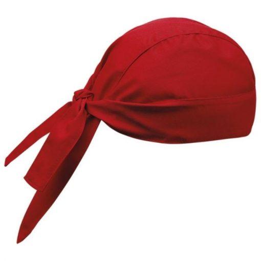 Šatka na hlavu  v červenej farbe