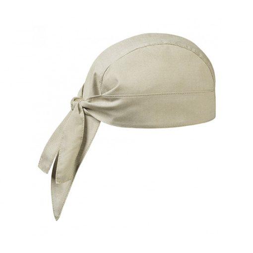 Šatka na hlavu v pieskovej alebo béžovej farbe