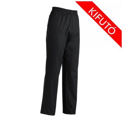 Kuchárske nohavice čierne, s pružným pásom