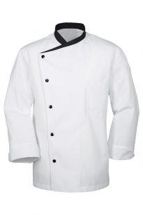 Kuchársky kabát so zapínaním na patent 100% bavlnený
